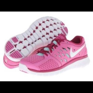 NIKE Pink Flex 2013 Running women's shoes